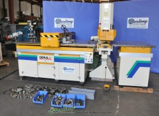 Used Geka Single End CNC Punching Machine W/ Fagor CNC Control and PAXY CNC Plate Positioning & Punching System