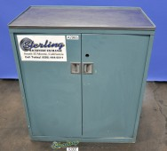 Used Heavy Duty Parts Cabinet With Swing Out Drawers