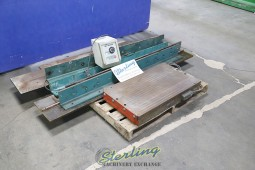 """Used Walker Magnetic Chuck Set With Flanges for a 48"""" Press Brake.  Great for Unipunch or Other Applications That You Need to Add a Punch Set and Move it with Variable Magnetic Chuck."""