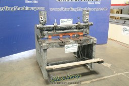 Used Niagara Heavy Duty Manual Foot Shear With Deep Throat For Slitting Applications on Longer Pieces