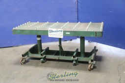 Used Lexco Hydraulic Lift Table with Roller Ball Table and Casters