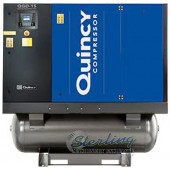 Brand New Quincy Rotary Air Compressor with Integrated Dryer